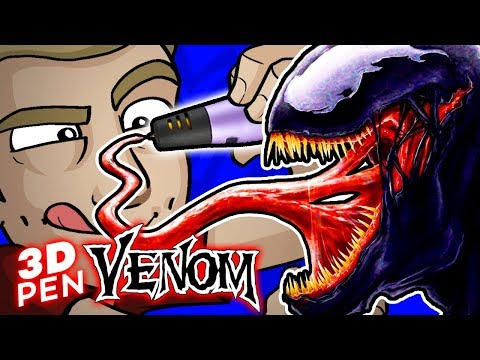 EPIC VENOM 3D PEN SCULPTURE!!