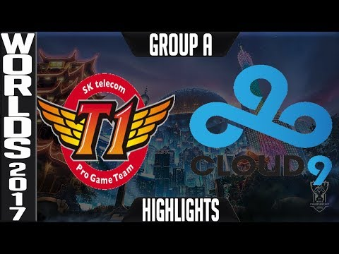 SKT vs C9 Highlights S7 Worlds 2017 Group Stage Day 1 Game Group A -SK Telecom T1 vs Cloud 9