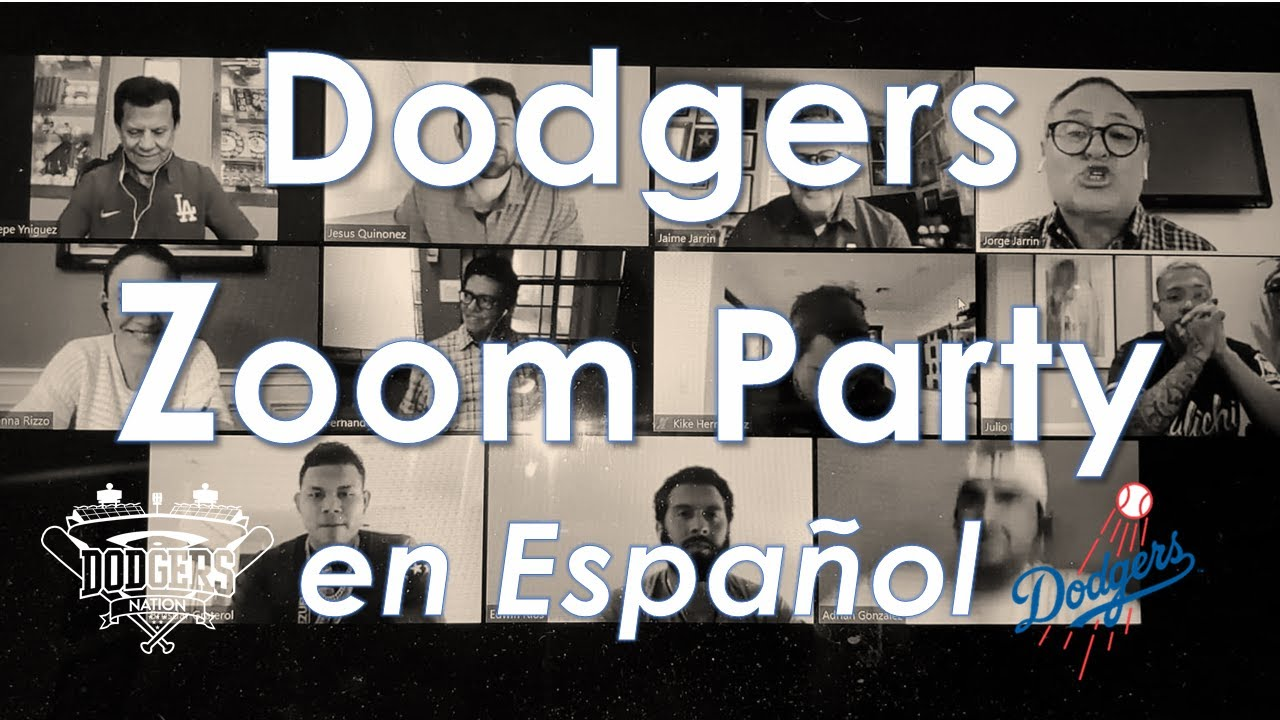Fernando Valenzuela Kike Hernandez Adrian Gonzalez Y Mas Join First Dodgers Zoom Party En Espanol Youtube