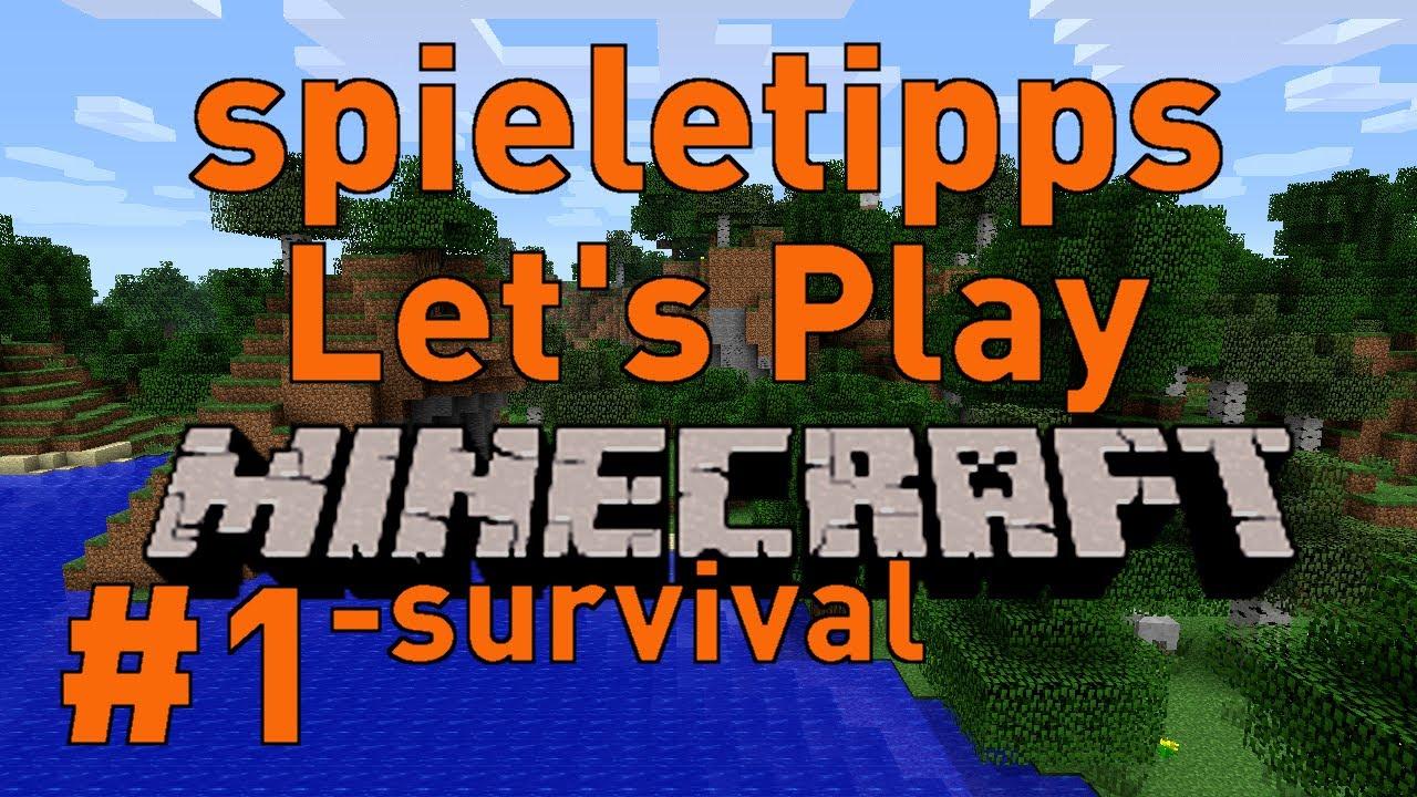 Lets Play MinecraftSurvival Deutsch HD Beginn Eines - Minecraft spieletipps pc