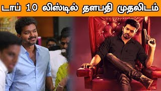 Thalapathy Vijay Got a First Place in Top 10 List