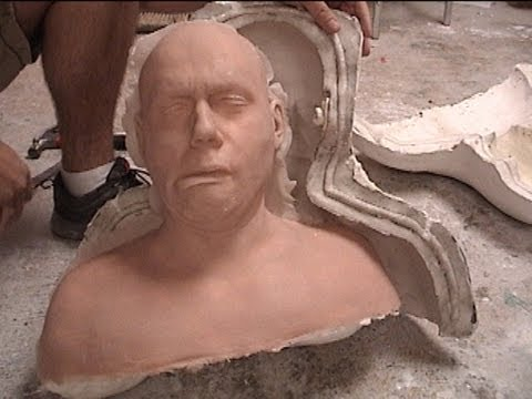 Moldmaking and Casting: 2 piece hydrocal head mold