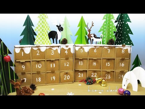 DIY Rustic Winter Forest Advent Calendar | c for craft