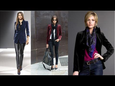 Бархатный пиджак💜 Тенденции моды 💜  Модные образы, которые не оставят вас равнодушными