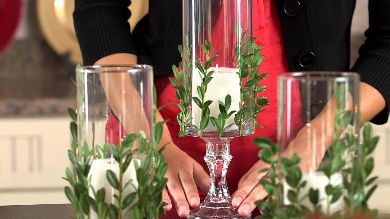 Dollar Tree Christmas Craft Idea Vase With Greenery Youtube