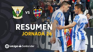 Resumen de CD Leganés vs Levante UD (1-0)