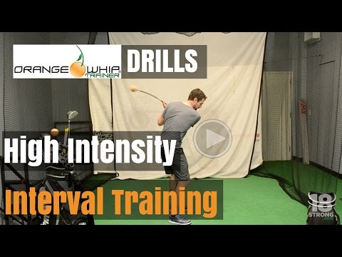 Orange Whip Golf Trainer - (High Intensity Interval Training)