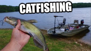 CAT FISHING IN THE NEW BOAT!