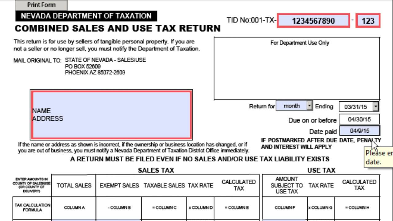 How To Fill Out A Combined Sales Use Tax Return Youtube