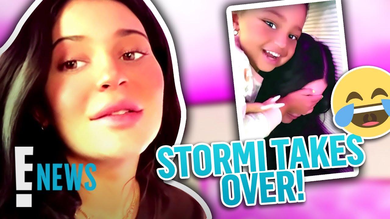 Download Stormi Webster Impersonates Mom Kylie Jenner on Instagram | E! News