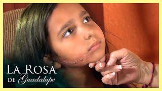La Rosa de Guadalupe: Hernán le corta el rostro a su hija Gracielita   Un buen día para amar