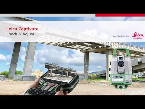 Check & Adjust Calibration for Leica total stations and MultiStations