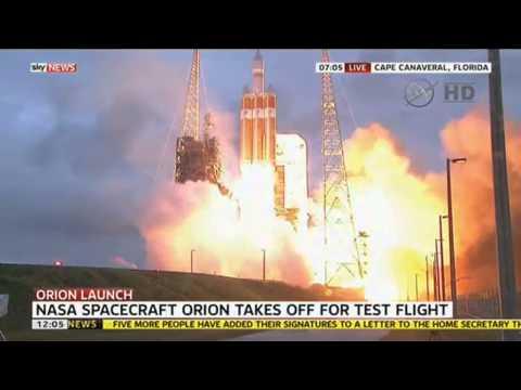 NASA's Orion Spacecraft Takes Off