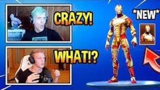 STREAMERS REACT TO NEW IRON MAN SKIN! MODDED Fortnite EPIC & FUNNY Moments YouTube