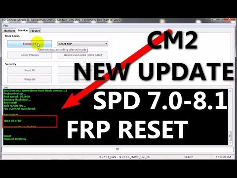 CM2 NEW UPDATE SPD 7 0 TO 8 1 OS FRP RESET TOOLS