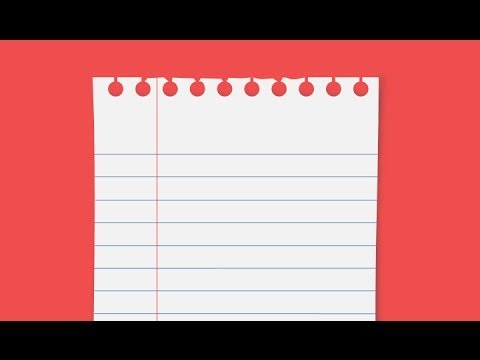 Powerpoint Tutorial: How To Create Notebook Paper Graphic - Youtube