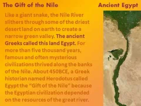 Ancient Egypt The Gift Of The Nile Reading Lesson For Kids Youtube