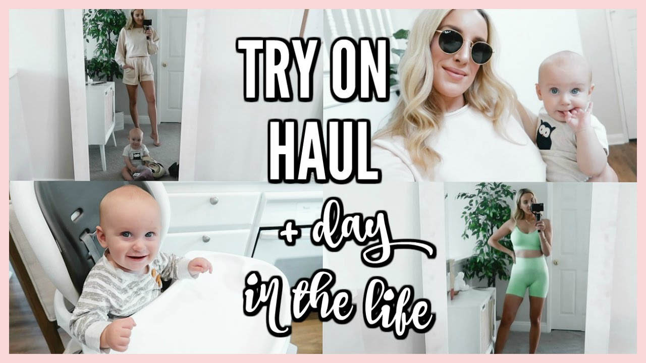 REAL MOM LIFE! TRY ON HAUL + DAY IN THE LIFE VLOG | OLIVIA ZAPO