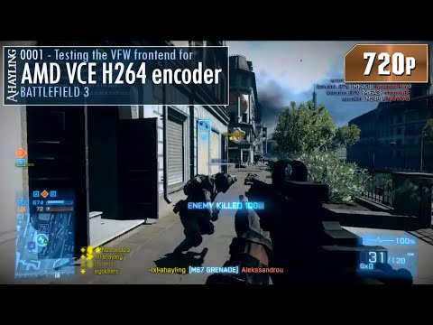 Battlefield 3 - Testing the VFW frontend for AMD VCE H264 encoder