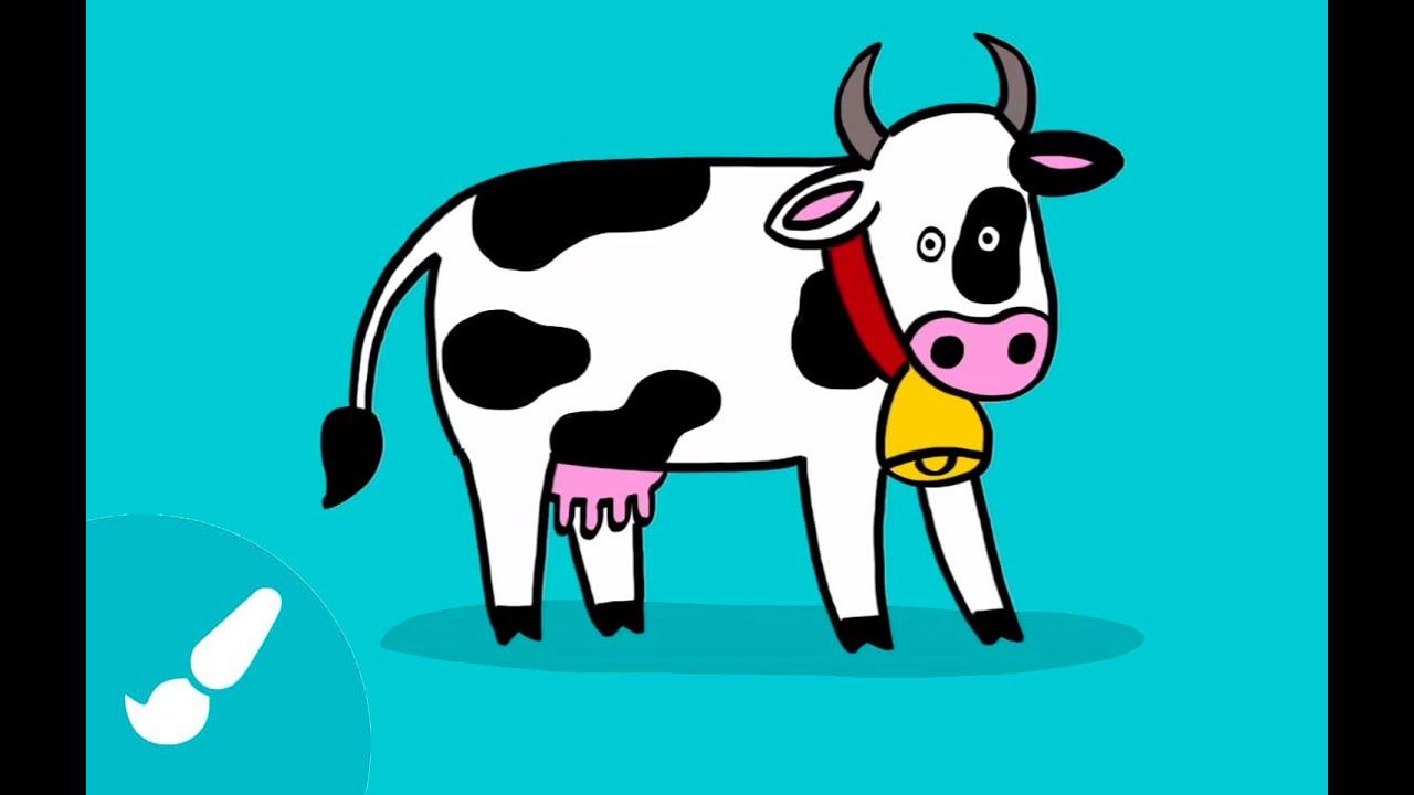Dibujos de animales para ni os c mo dibujar una vaca - Dibujos infantiles de bebes ...
