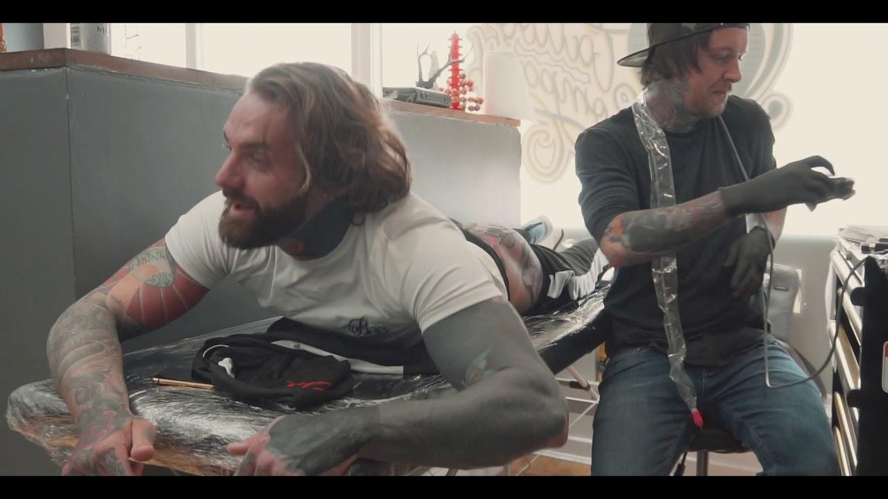 Matt Webb Tattooing Aaron Chalmers Bum Tattoo Youtube