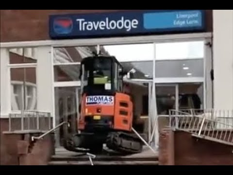 Unpaid worker destroys lobby of Liverpool Travelodge Hotel