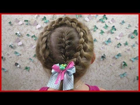 Красивая прическа из косичек (вариант 5 ) Hairstyle Zöpfen