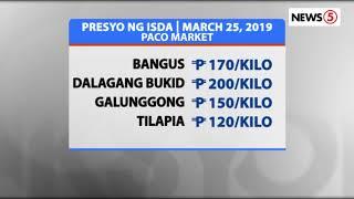 Presyo ng bilihin sa palengke | March 25, 2019