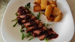 Утиное магрэ с кармелизованной репой  Французская кухня