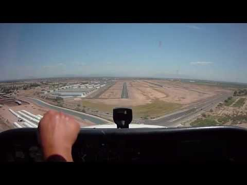 Private Pilot Training: Landing and Traffic Pattern Demonstration During Student Flight Training