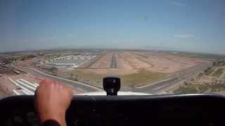 Private Pilot Training: Landing and Traffic Pattern Demonstration During Student Flight Training