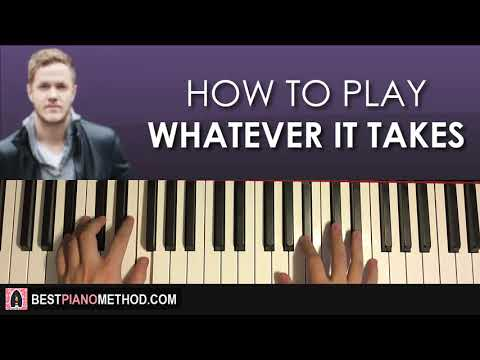 HOW TO PLAY - Imagine Dragons - Whatever It Takes (Piano Tutorial Lesson)