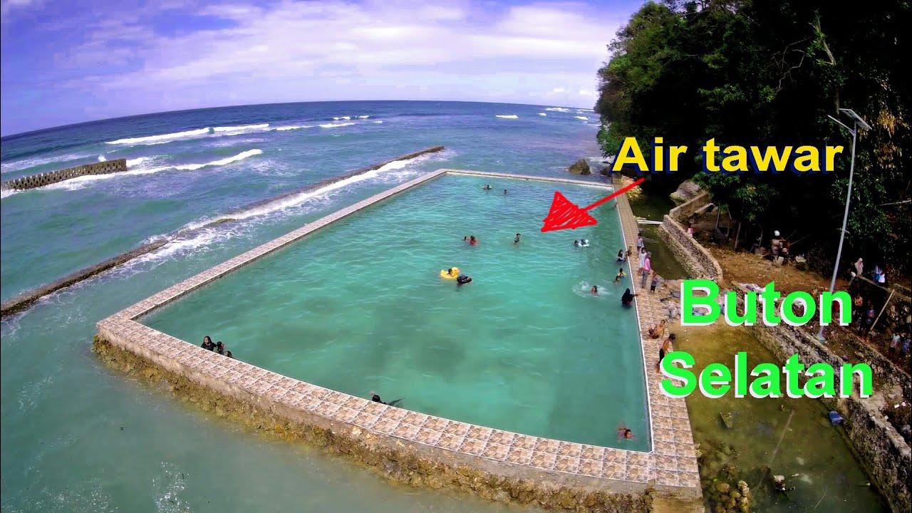 Kolam air tawar dilaut Watiginanda Buton Selatan   YouTube