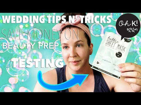 Beauty Wedding Preparation | Test with me | Oh! K Bubble Sheet Mask | WEDDING TIPS AND TRICKS