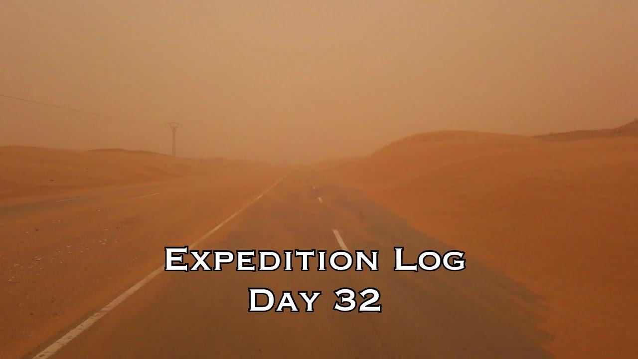 A mild storm in the Sahara desert