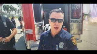 LAFD paramedic threatens to smash my camera if i do not stop recording firehouse 63 venice beach