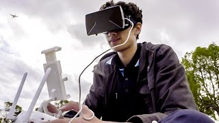 CHEAPEST DRONE FPV!? - PHANTOM 4 VR / HEADTRACKING / APP