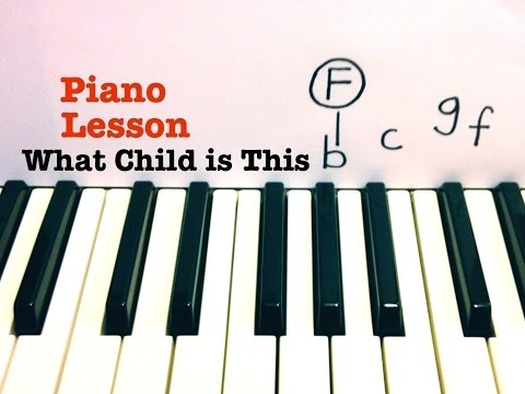 What Child is This ★ Piano Lesson ★ TUTORIAL WITH SHEETS ★ CHRISTMAS SONG