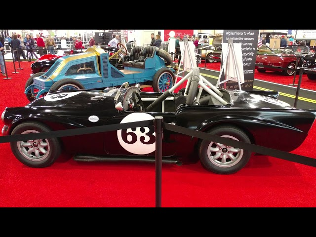 1960 BLACK DAIMLER SP250 CONVERTIBLE @ PHILADELPHIA CONVENTION CENTER CAR SHOW