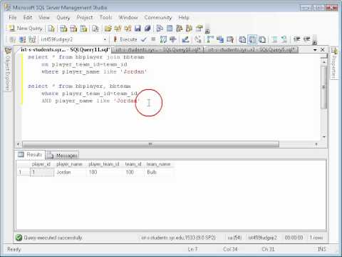 SQL: Understanding the JOIN clause in the SELECT statement