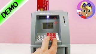 Pokladnička bankomat | Detská pokladnička s heslom | Elektronická pokladnička | Trezor pre deti