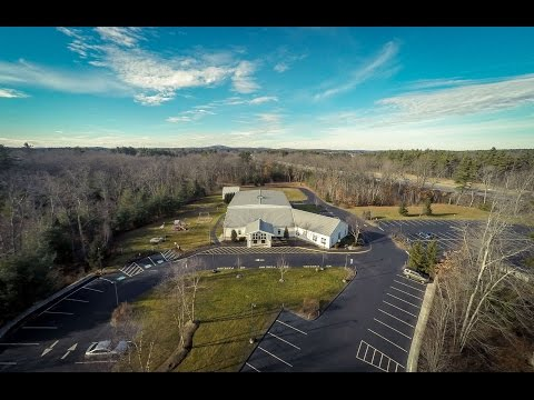 An aerial view of Trinity Life Community Church in