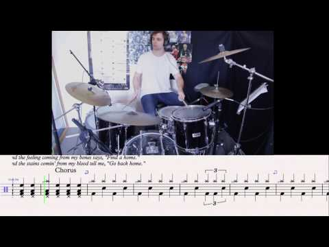 Seven Nation Army  White Stripes  Slow Motion Drum Tutorial With Sheet Music Tab