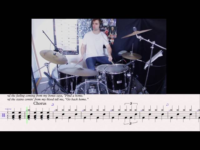 Drum drum tabs white stripes : Seven Nation Army - White Stripes - Slow Motion Drum Tutorial With ...