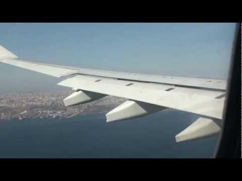 روووعة الهبوط الجميل  في  مطار اسطمبول متعة  landing in Istanbul
