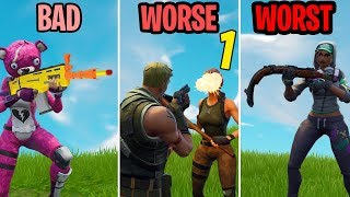 The WORST Players of All Time! BAD, WORSE, WORST! Fortnite Funny Moments