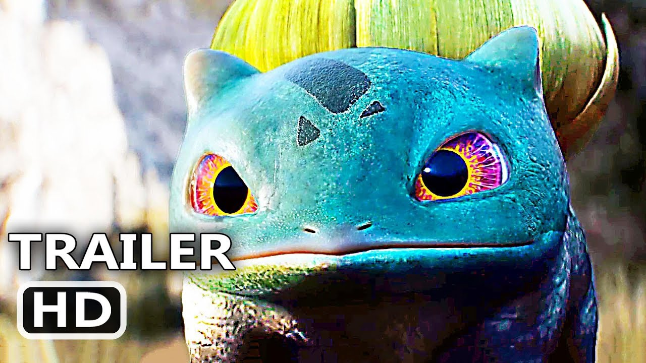 Pokemon Detective Pikachu Bulbasaur Lickitung Trailer 2019