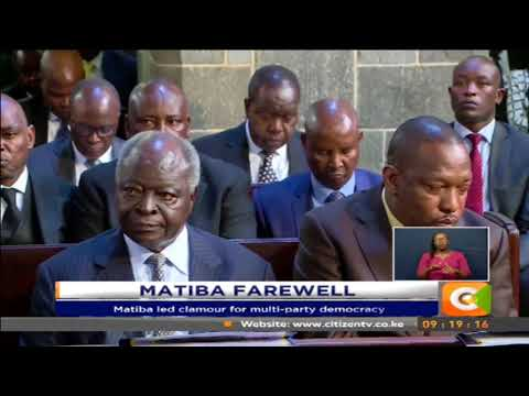 Matiba memorial service held in Nairobi