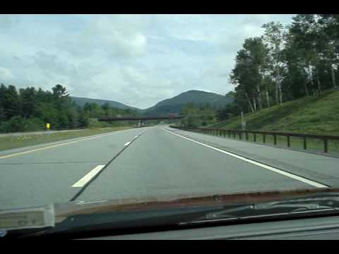 Driving on the Adirondack Northway NY