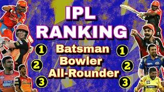 IPL Ranking of Player || Rohit sharma IPL Ranking || Virat kohli IPL Ranking || IPL Ranking 2018